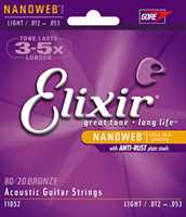 Elixir 11052 Bronze Saitenset 012-053 Akustikgitarre