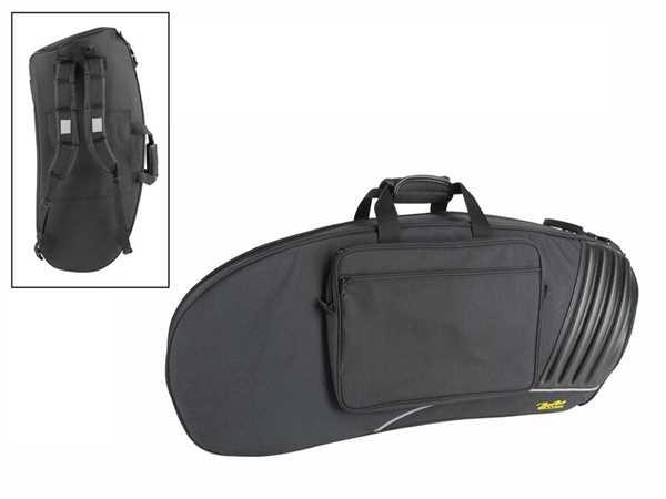 Boston Tenorhorn Gig Bag mit Fiberglasseinlagen, Notentasche und Rucksackgarnitur