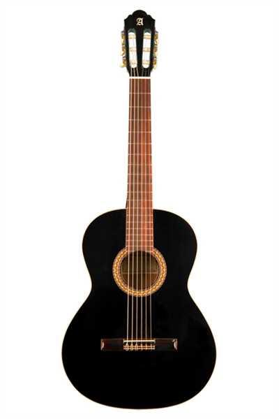 Alhambra 1CH Lefthand Konzertgitarre Black
