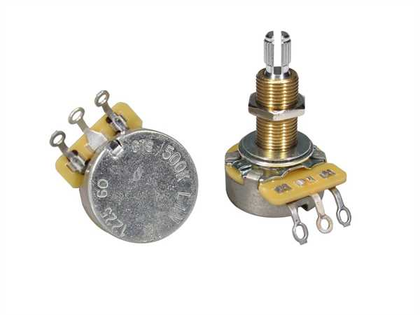 "CTS-500 B60 Poti Linear (Tone) Lange Schaftlänge 3/4"" (19,05mm)"