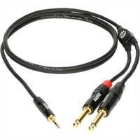 Klotz - MiniLink Pro Y-Kabel 3,5mm Klinke - 2x 6,3 Klinke (3m)