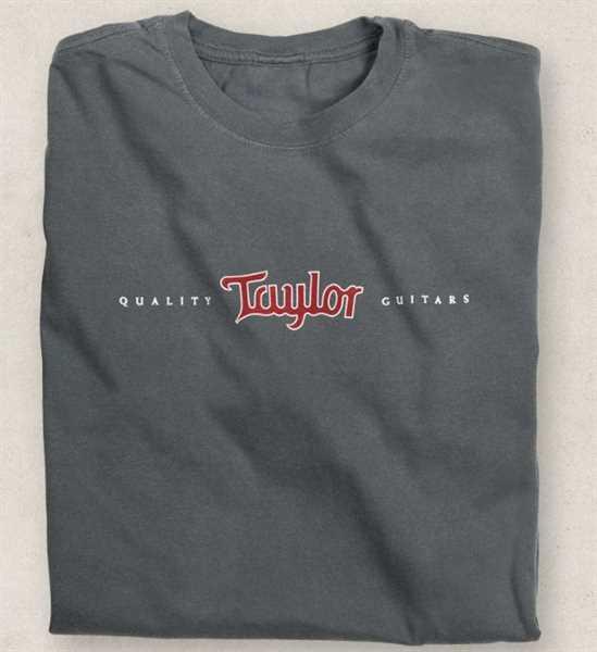 Taylor Inlay Logo T-shirt, smoke, Size L