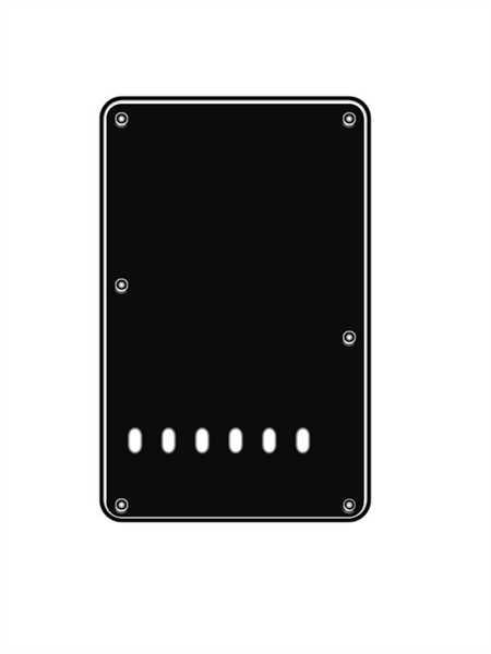 Boston BPL-313 B Backplate für Strat linkshand, schwarz