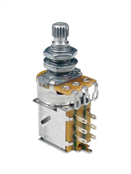 Boston PP-500-B Push-Pull Poti 500kOhm Linear (Tone) Schaftlänge 10mm, M8