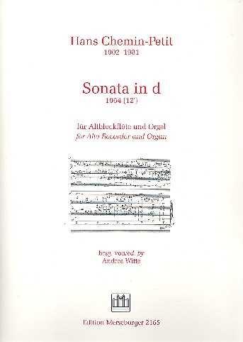 Hans Chemin-Petit Sonata in d : für Altblockflöte und Orgel