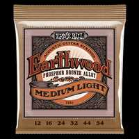 "Ernie Ball ""Earthwood Phos. Bronze med.-light"" Westerngitarren Saitenset 012-054"